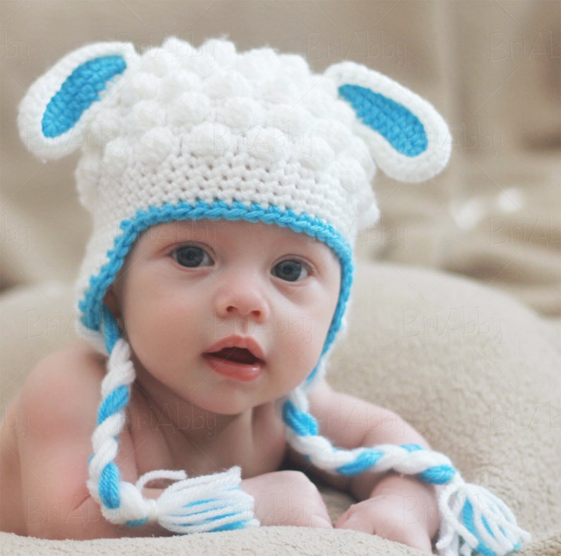 5bc7bf608a8 Crochet Lamb Hat Pattern PDF FILE