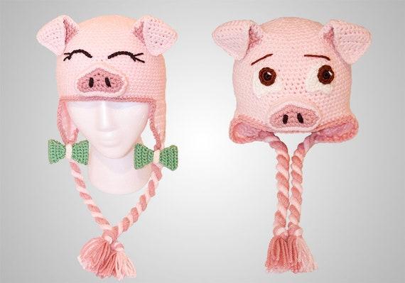 The Perfect Crochet Pig Hat Pattern (PDF FILE) 333b0f7f584