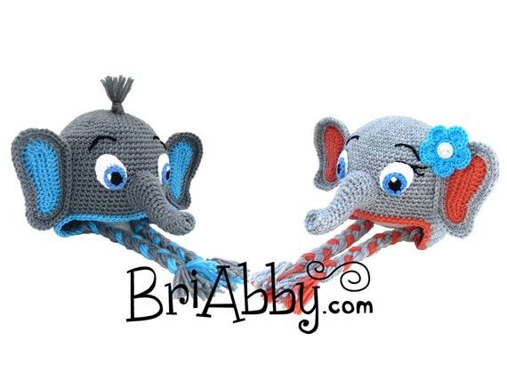 Crochet Elephant Hat Pattern PDF FILE  949d92cee0f