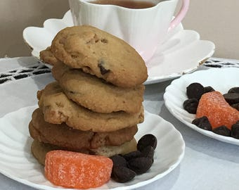 Orange - Chocolate Chip Cookies - TWO DOZEN