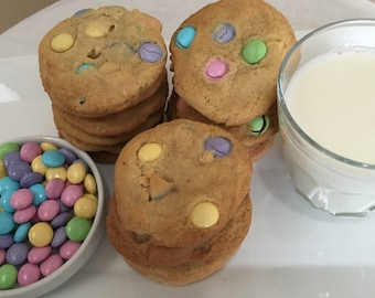 M&M Cookies (ONE DOZEN)