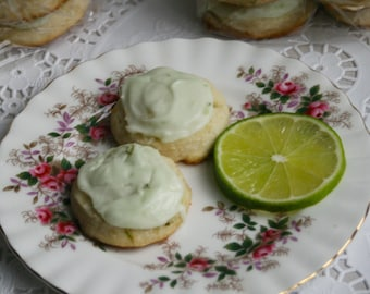 Frosted Lime Wafers (TWO DOZEN)