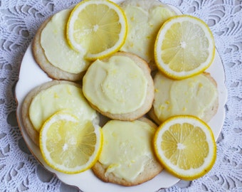 Frosted Lemon Wafers (TWO DOZEN)