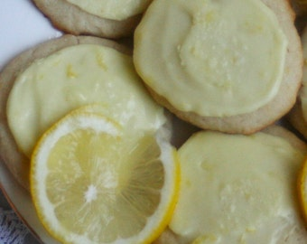 Frosted Lemon Wafers (ONE DOZEN)