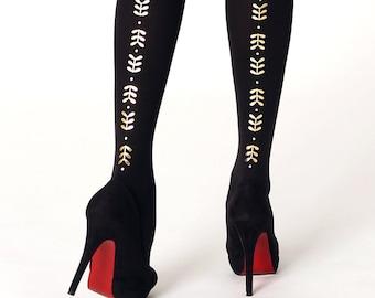 GOLDEN Metallic tights