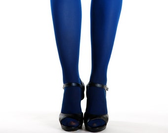 Black-blue ombre tights for women