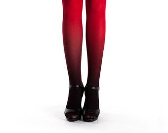 f78e22a51248e Ombre tights black-red