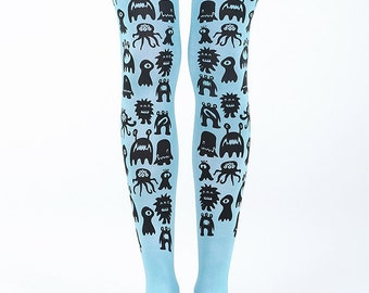 Monster tights / super cute tights / girl tights
