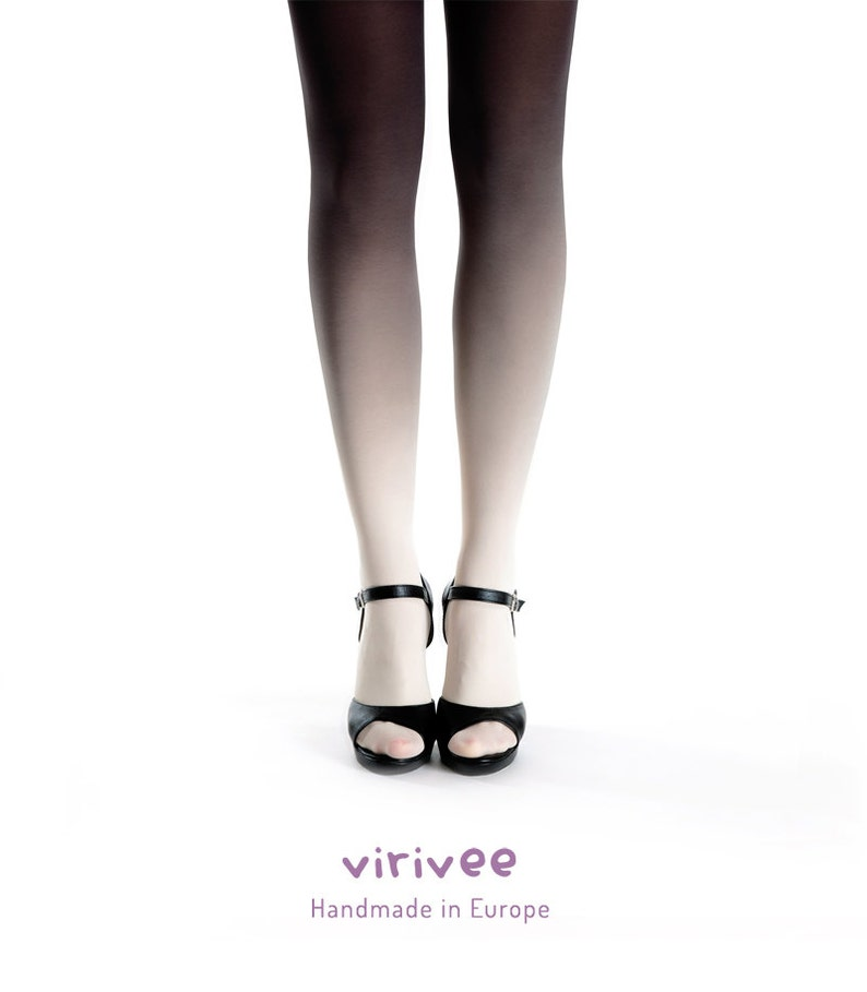 690f6ec930b Ombre tights ivory black
