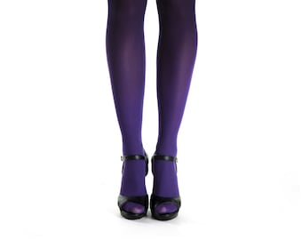 Ombre tights purple-black / gift ideas / opaque tights