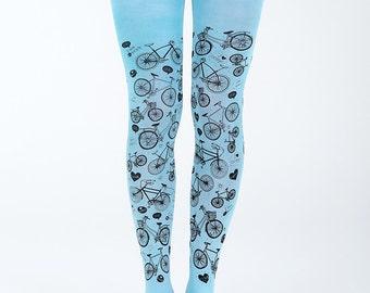 I love my bike tights. Bicycle tights. Cycling tights. Printed tights. Leggings