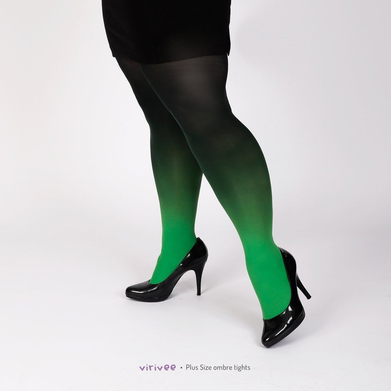 174e69637b2 Green-black ombre tights for women and men cosplay pantyhose