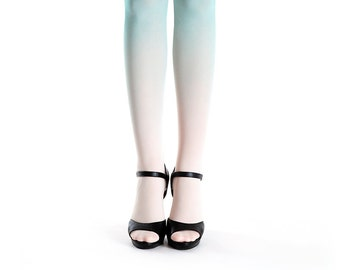 Ombre tights ivory - mint