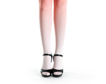 Ombre tights pale salmon - coral bride colour