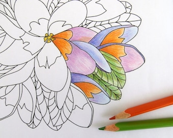 Flower Medallion Printable Coloring Page for Kids and Adults