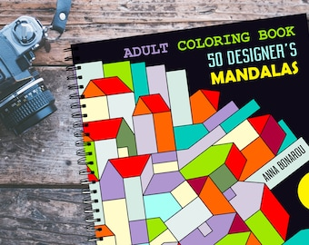 Coloring Book, 50 coloring pages, Mandalas, Instant download, Commercial Use, Printable Pages to color, Page for coloring, Coloring ebook,