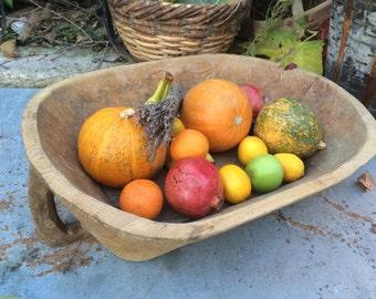 Wood Bowl,Vintage Decorative Wood Long Dough Bowl,Serving Bowl