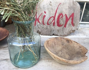 Antique Hand Blown Glass,Antique Glass Jar,Vintage Glass Vase