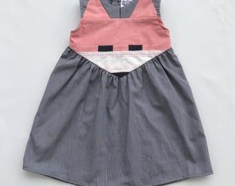 Upcycled Fox Dress - Size 3