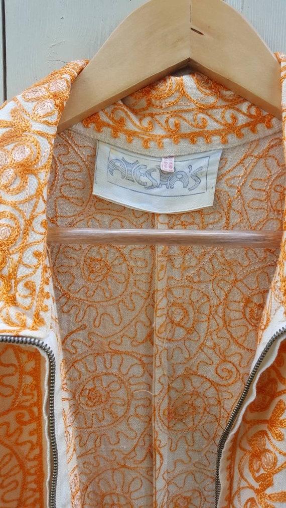 Ayesha Indian embroidered long line jacket ethnic… - image 5
