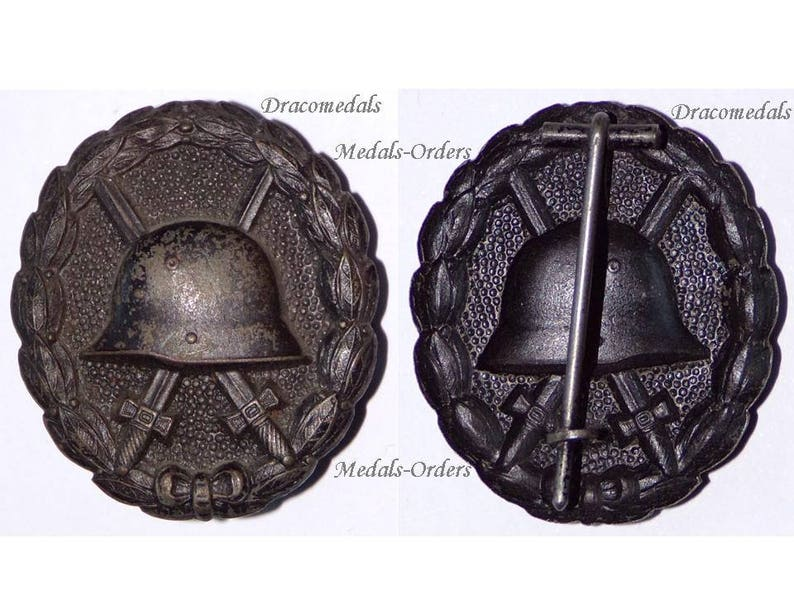 Germany WW1 Black Wound Badge German Military Medal pin Wounded WWi 1914  1918 Decoration Magnetic Model Kaiser Army Great War