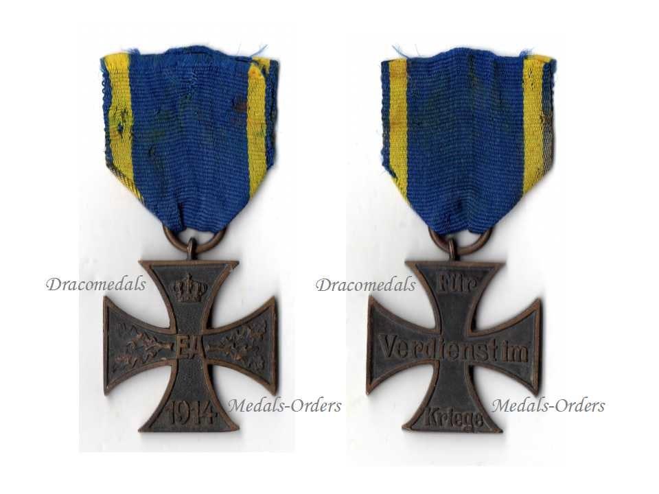 Germany Ww1 Military Medal Ernst August Cross Ea2 1914 1918 Etsy