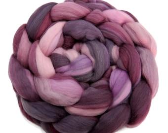Superfine merino wool roving 19 microns 4 oz,Tempera Collection ( Irises)
