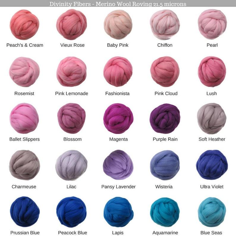 SALE Lava 21.5mic Merino Wool Roving Color