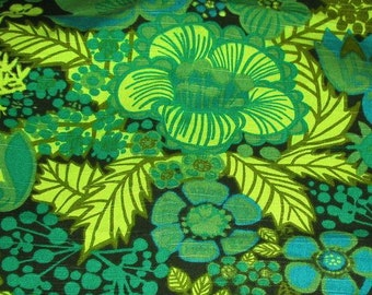 60s swedish designer fabric. Boras Cotton, Marta-Lena Bjerhagen. Pompeija