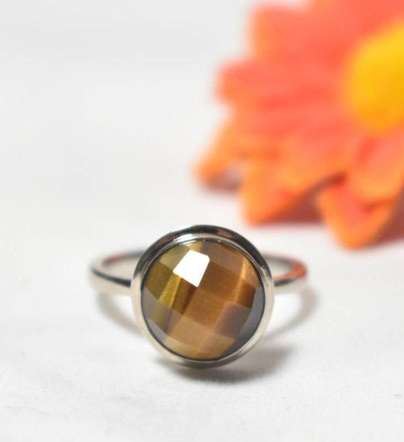 Tigers Eye Crystal Ring image 0
