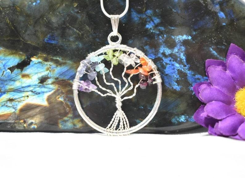 Tree Of Life Chakra Pendant image 0
