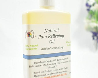 Natural Pain Relief Oil, Anti Inflammatory, Knee Pain, Joint Pain, Muscle Aches, Neck Pain