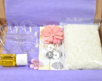 Heart Candle Making Kit, DIY Tea lights, Art And Craft Kit, Make Your Own Tealights Gift Box