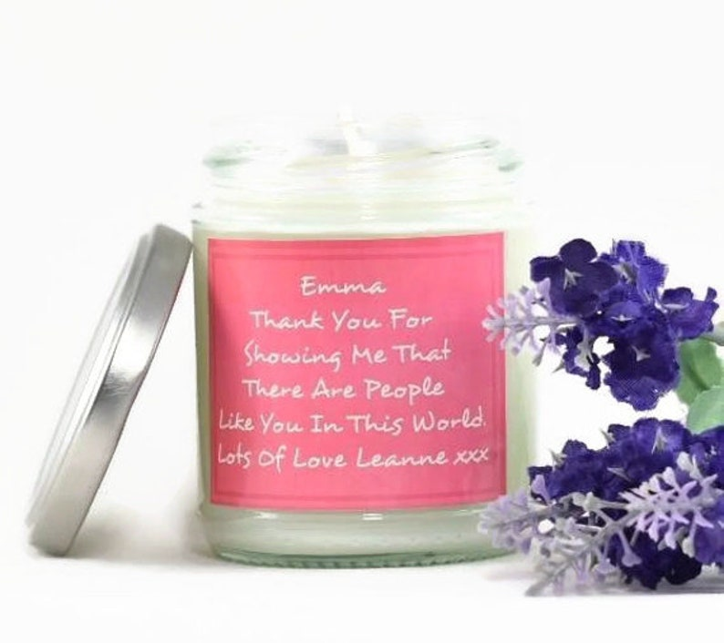 Personalised Thank You Friend...  Scented Soy Candle  image 0