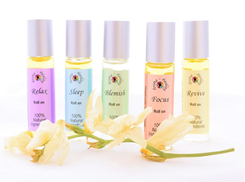 Essential Oil Roller Ball Blends Perfume Rollers 10ml image 0