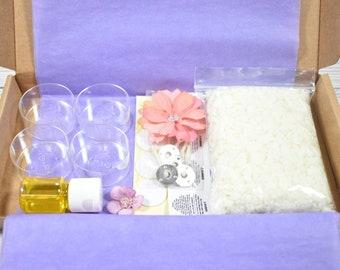 Candle Making Kit, DIY Tea lights, Art And Craft Kit, Make Your Own Tealights Gift Box