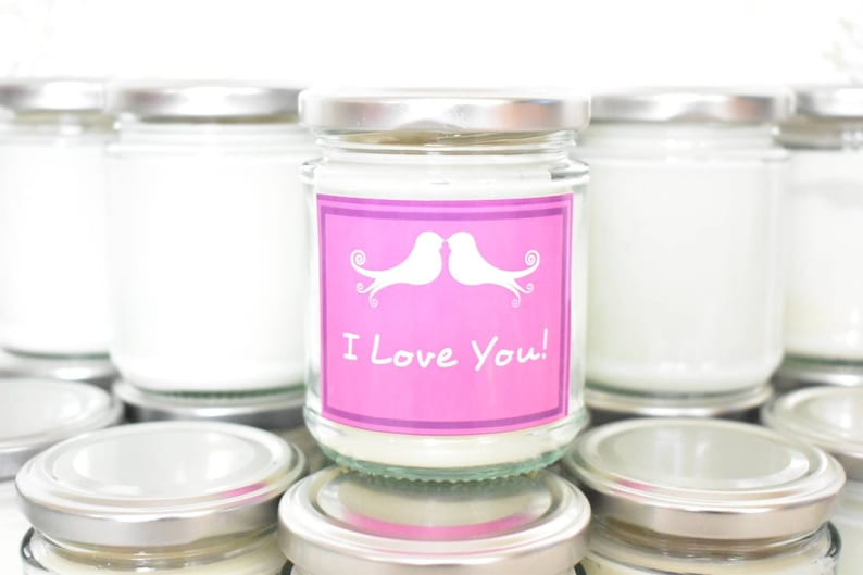 I Love You Candle Can Be Personalised. image 0