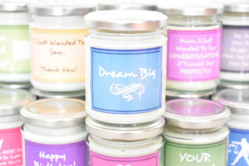 Dream Big Candle Can Be Personalised. Empowering Quotes image 0