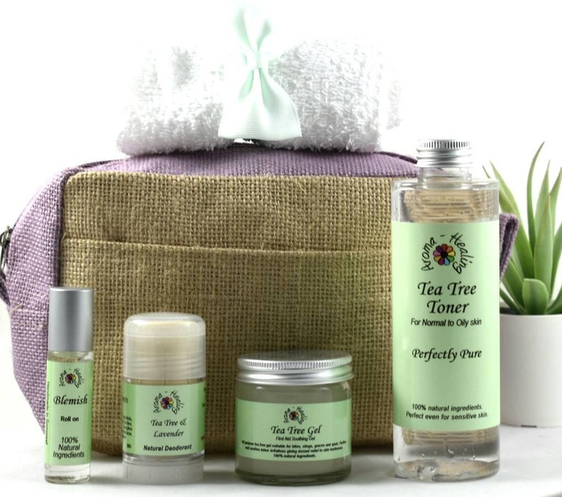 Tea Tree Gift bag  Natural Gift  Gift For Friend  Toiletry image 0