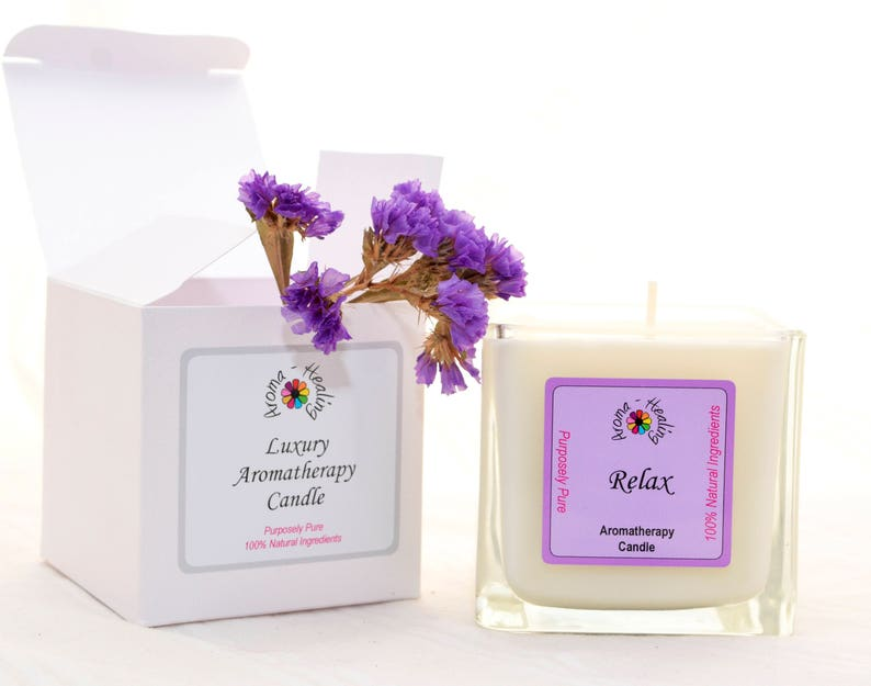 Luxury Relax Candle  Boxed Candle  Friend Gift  Gift  Soy image 0