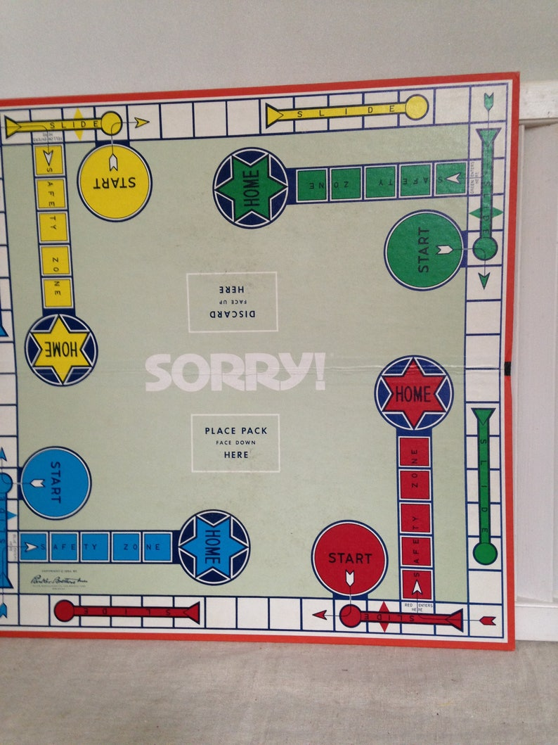 Game Boards Scrabble And Sorry Decoration Your Games Room Etsy