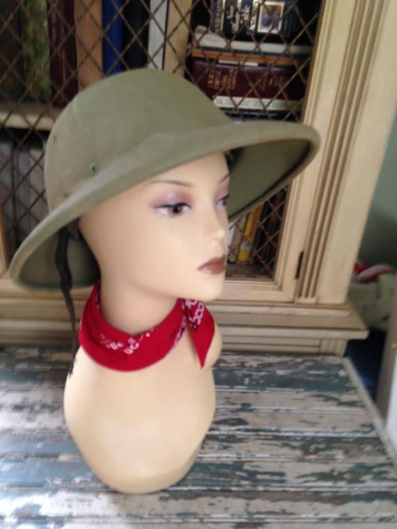 WW II Army Hard Hat Genuine Vintage Trooper Helmet