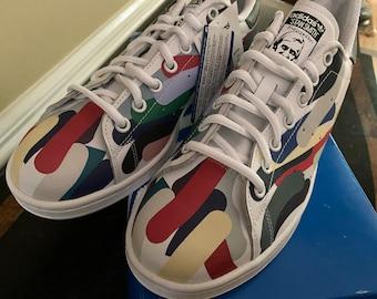 adidas Originals Girls Stan Smith Jazzy Trainers Multicolour US5 White