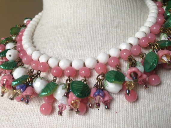 GLORIOUS Miriam Haskell Bib Collar Fringe Necklace