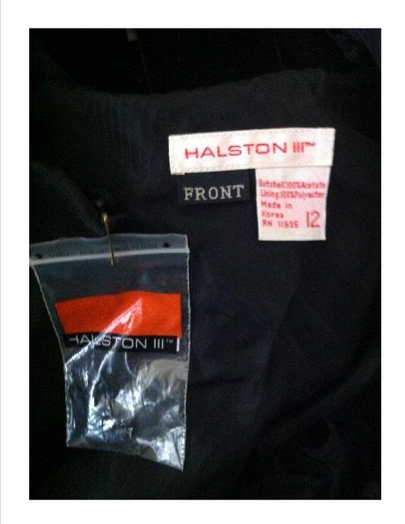 Vintage 1980s Halston Designer Black Dress Fabulo… - image 4
