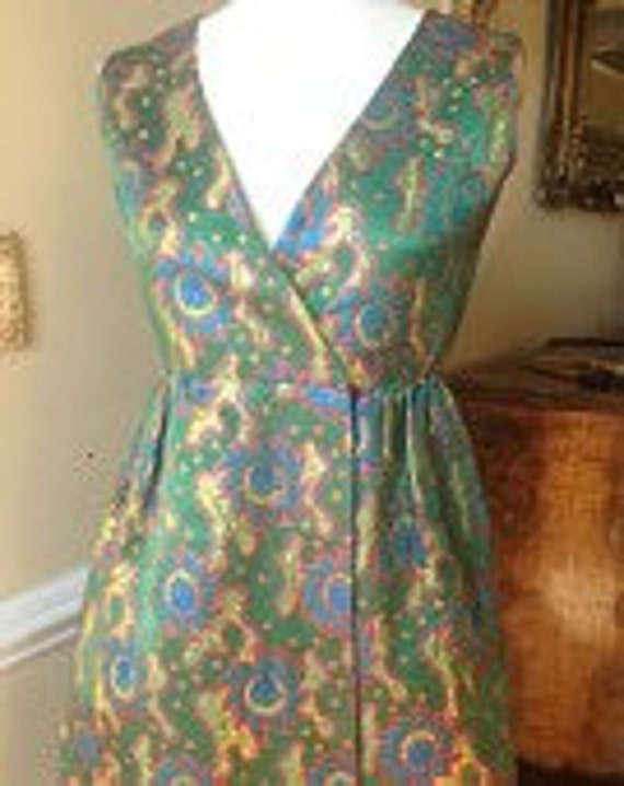 Fabulous Fabulous Vintage 1960's Designer Teal Tra