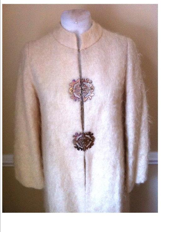 RARE TINA LESER Original Mandarin Collar Kimono As