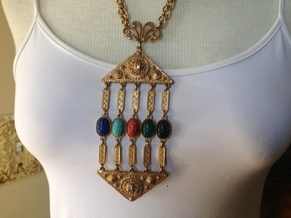 Egyptian Revival Hattie Carnegie Etruscan Style Ru