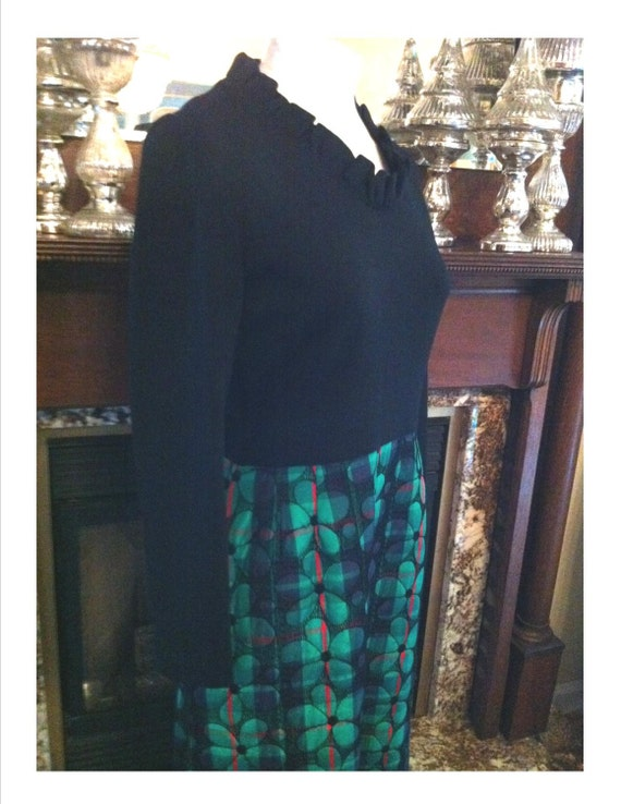 Plur Vintage Black Maxi Dress Stretch Knit Fitted… - image 3