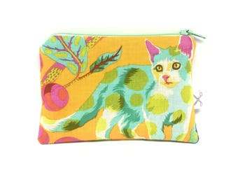 Mini zipper pouch Disco Kitty marmalade
